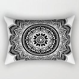 black white mandala Rectangular Pillow