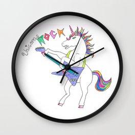 Unicorns can ROCK Wall Clock