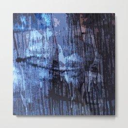 Behind the curtain Metal Print