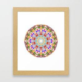 Mandala pattern colored Framed Art Print