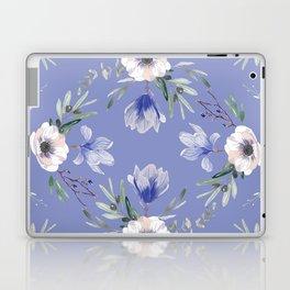 Floral Square Blue Laptop & iPad Skin