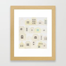 A residential area Framed Art Print
