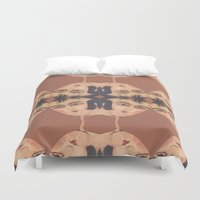 persian Duvet Covers featuring Persian Qajar Painting Polygon by Nahal