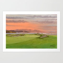 Pebble Beach Golf Course Hole 17 Art Print