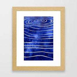 Tide X Framed Art Print