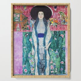 Art Nouveau portrait - Gustav Klimt Serving Tray