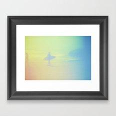 Ditch Plains #1 Montauk Surf Series by Audrey Amelie Framed Art Print