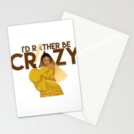 I'd Rather Bey Crazy Stationery Cards