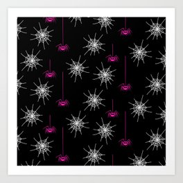Pink Spiders Art Print