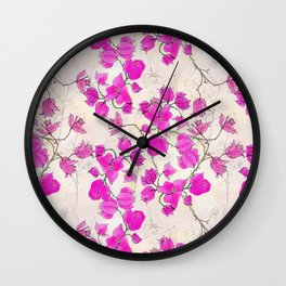 Dreamy Bougainvillea Wall Clock