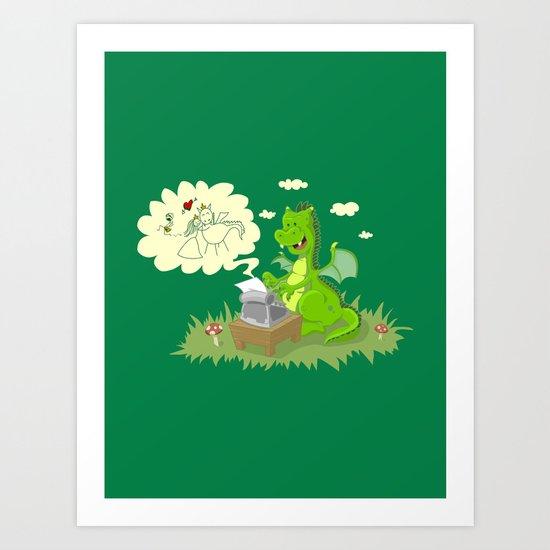 Dragon's Tale Art Print