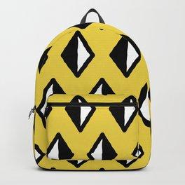Diamond Pattern Yellow Backpack