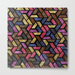 Seamless Colorful Geometric Pattern XIII Metal Print