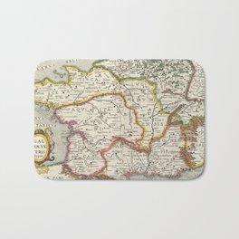 Vintage Map of France (1657) Bath Mat