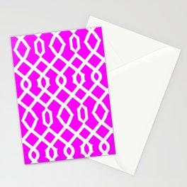 Grille No. 3 -- Violet Stationery Cards