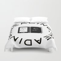reading Duvet Covers featuring Reading is Reading by Marina Bonomi