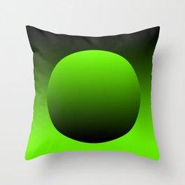Green grocery bag Throw Pillow