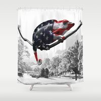 central park Shower Curtains featuring Central Park, NY by DistinctyDesign