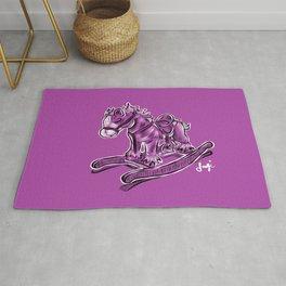 Rocking horse in Violet Rug