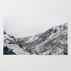 Honister Pass covered in snow. Cumbria, UK. Rug