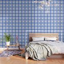 Mid Century Modern Star Pattern Blue 552 by tonymagner