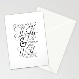 Change Your Thoughts Quote Stationery Cards
