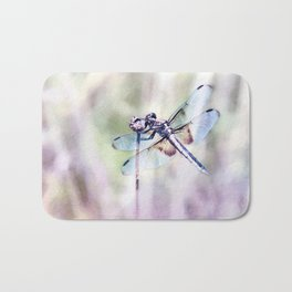 Dragonfly in Pastels Bath Mat