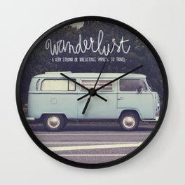 Wanderlust Wall Clock