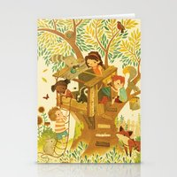 woods Stationery Cards featuring Our House In the Woods by Teagan White