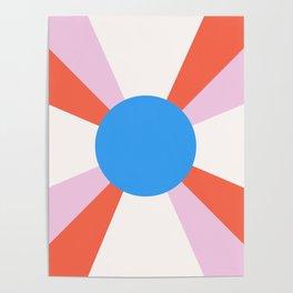 Retro Sun Rays - Mod Tones Poster