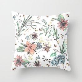 Summer Wreath Throw Pillow