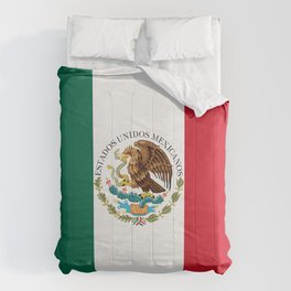 Flag of Mexico - alt version with seal insert Comforters