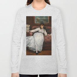 The Rest, portrait of Berthe Morisot by Edouard Manet Long Sleeve T-shirt