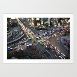 Gangnam at Rush Hour Art Print