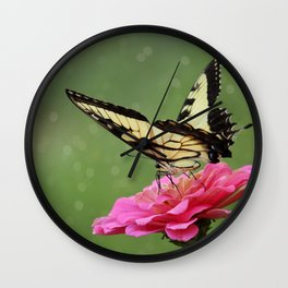 Bokehs and Butterflies Wall Clock