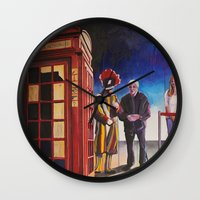 death cab for cutie Wall Clocks featuring Death cab authorized by GaeTano & Valentina