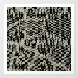 Leopard OP Illusion Art Print