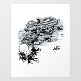 Inktober Day 20: Breakable Art Print