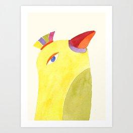 Stolze Vogel Art Print