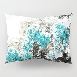 Turquoise & Gray Flowers Pillow Sham