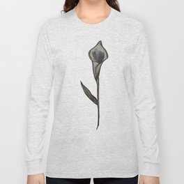 Single Stem Calla Lily Illustration Long Sleeve T-shirt