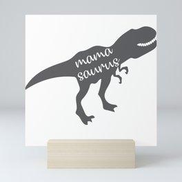 Mama Saurus T-rex Dinosaur Mini Art Print