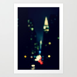 New York City Lights Abstract Photography Art Print