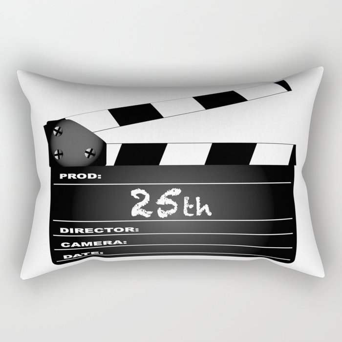 25th Year Clapperboard Rectangular Pillow