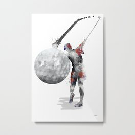 Golf Player 4 Metal Print