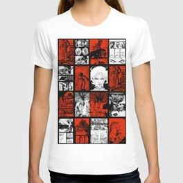 RED & WHITE - A nne Frankenstein Book I - Resurrection T-shirt