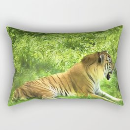 Tiger In Forest Rectangular Pillow