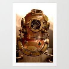 Vintage Divers Helmet Art Print
