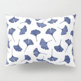 Blue Ginkgo Biloba Pattern Pillow Sham