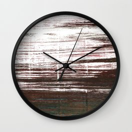 Bistre abstract watercolor Wall Clock